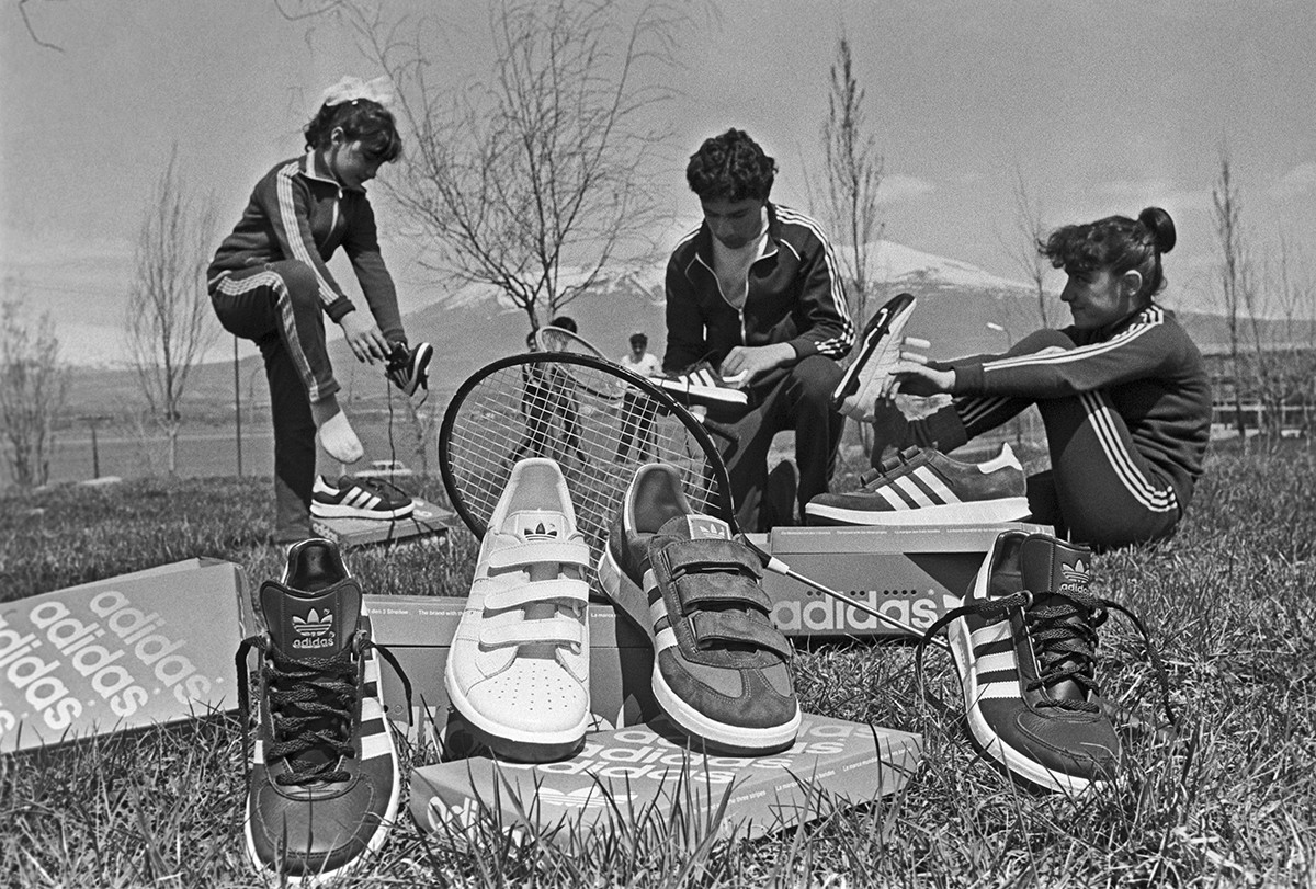 Adidas sneakers were a fashion statement in USSR.