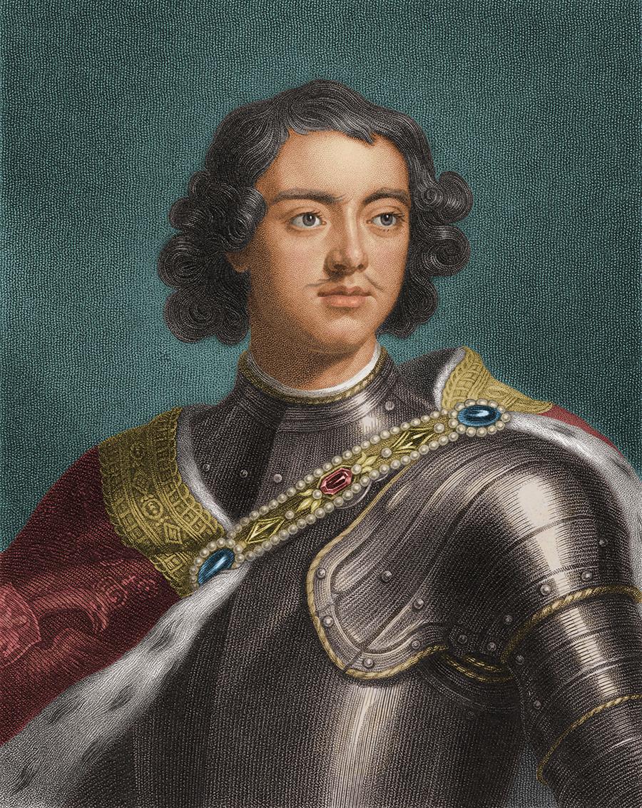 Около 1700 г., Петър I Велики (1672-1725), който управлява Русия от 1682 г. до смъртта си.
