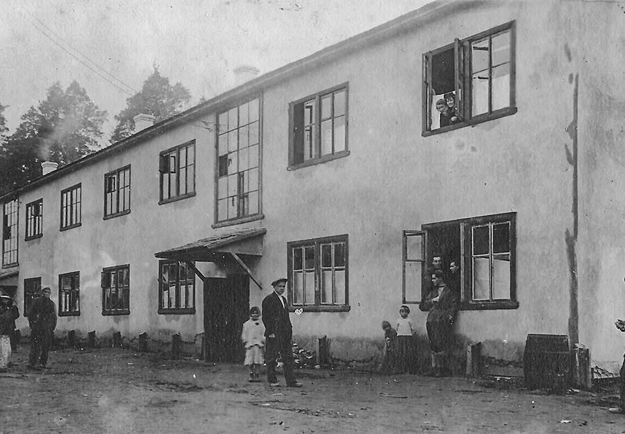 Alojamento em Alekseievsky Studgorodok (próximo da rua Iaroslavskaia), na década de 1930.