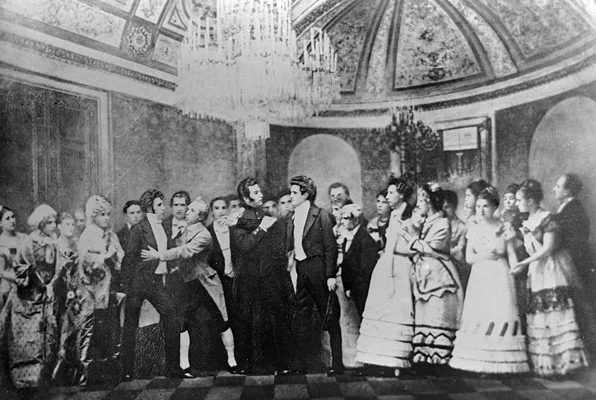 Les artistes du Mariinsky sur scène pour la première de l'opéra