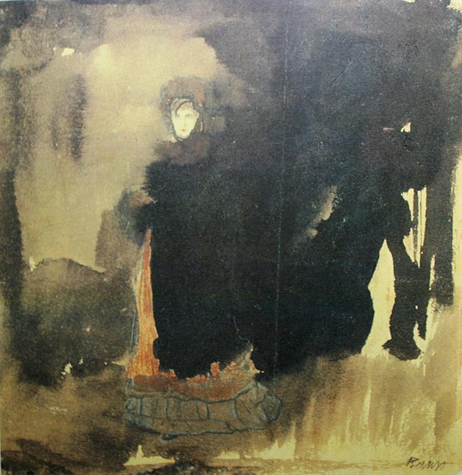 Leon Bakst, an illustration for Blok's 'Stranger' poem, 1907