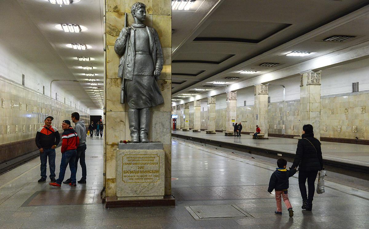 Partizanskaya metro station, nowadays.