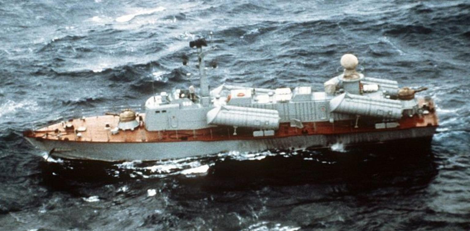 Кубанска Оса II, снимљена из ваздуха 1982. године.