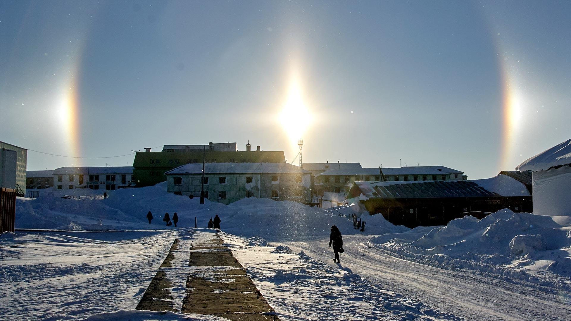 Насеље Диксон. Најсеверније насеље у Русији налази се у Тајмирском Долгано-Ненецком аутономном округу Краснојарског краја.