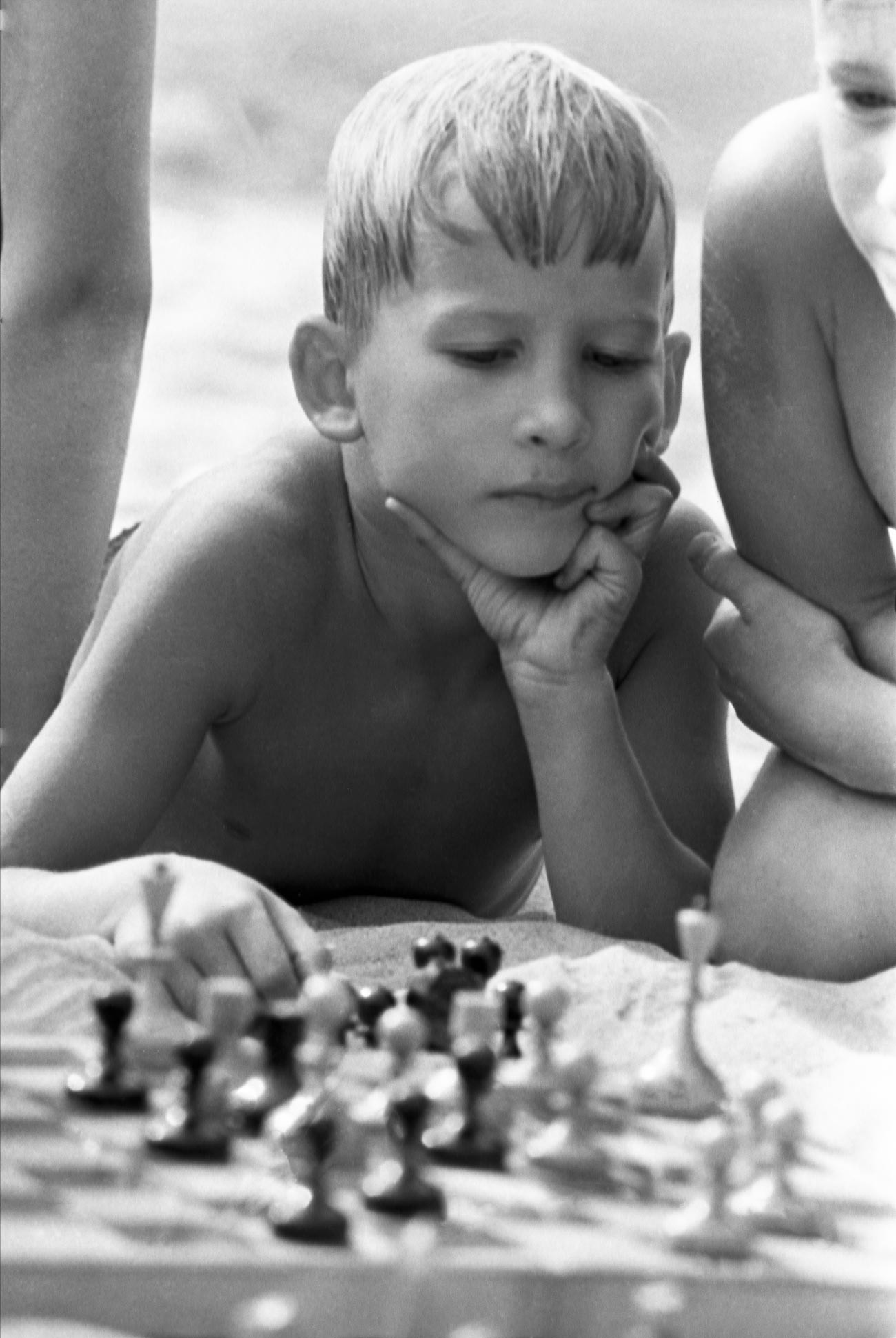 Chess was a very popular game among children and adults in the Soviet Union.