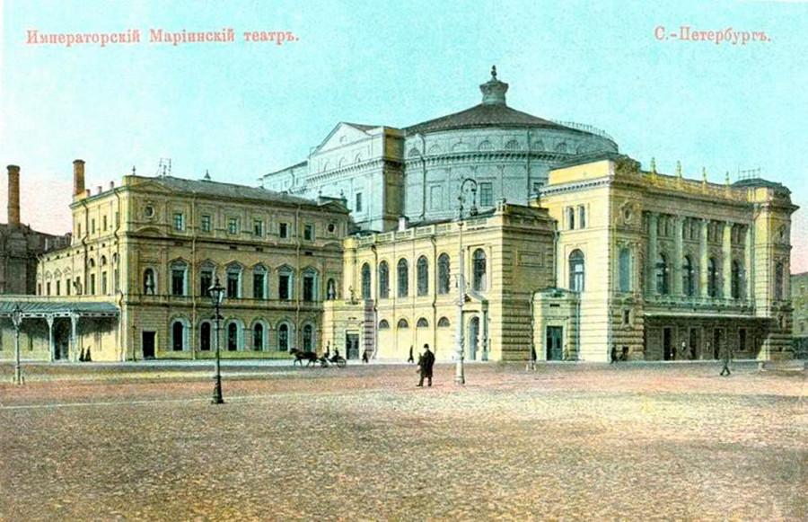 Stavba Marijinskega gledališča v 19. stoletju