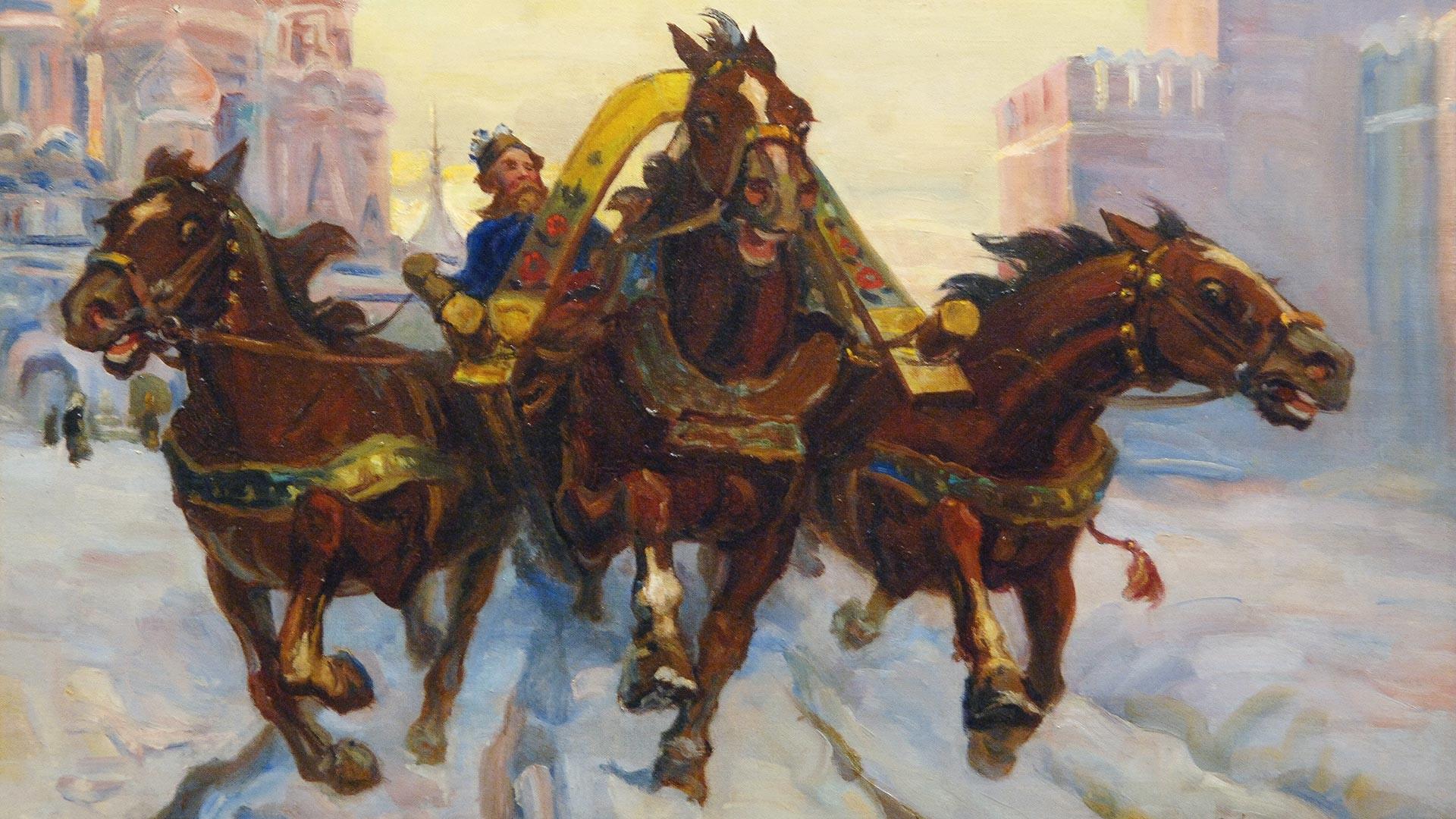 """""""'Тројка' на Црвеном тргу. Стара Русија"""", Александар Соколов (1960), Централни дом уметника."""