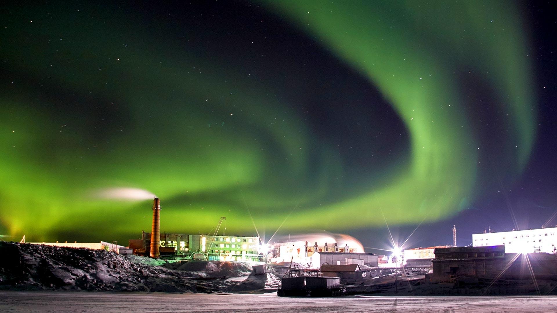 Polarna svjetlost u naselju Dikson.
