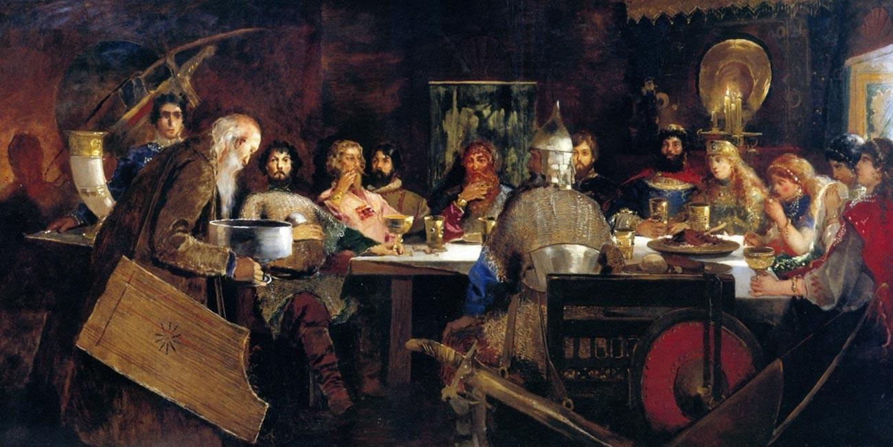 Des bogatyrs à la table du kniaz Vladimir
