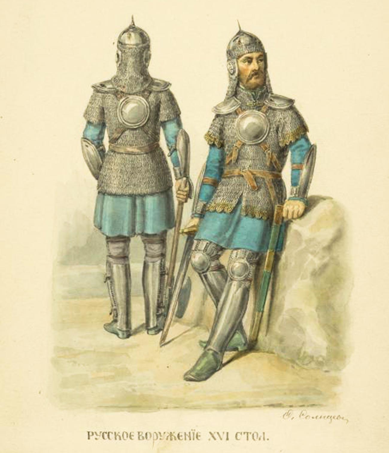 Représentation de l'infanterie russe du XVIe siècle