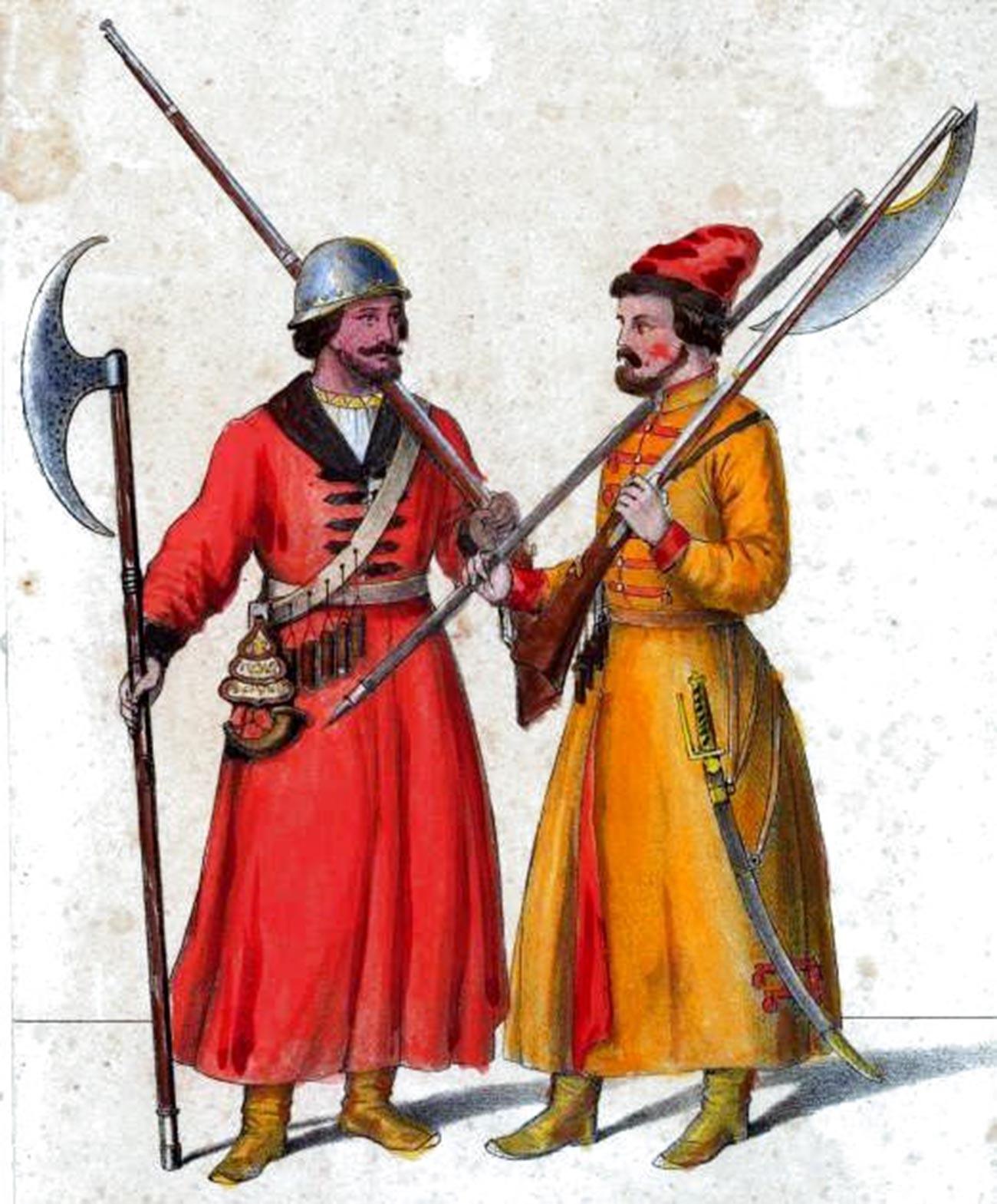 Les streltsy (« tireurs ») russes, l'infanterie de la ville