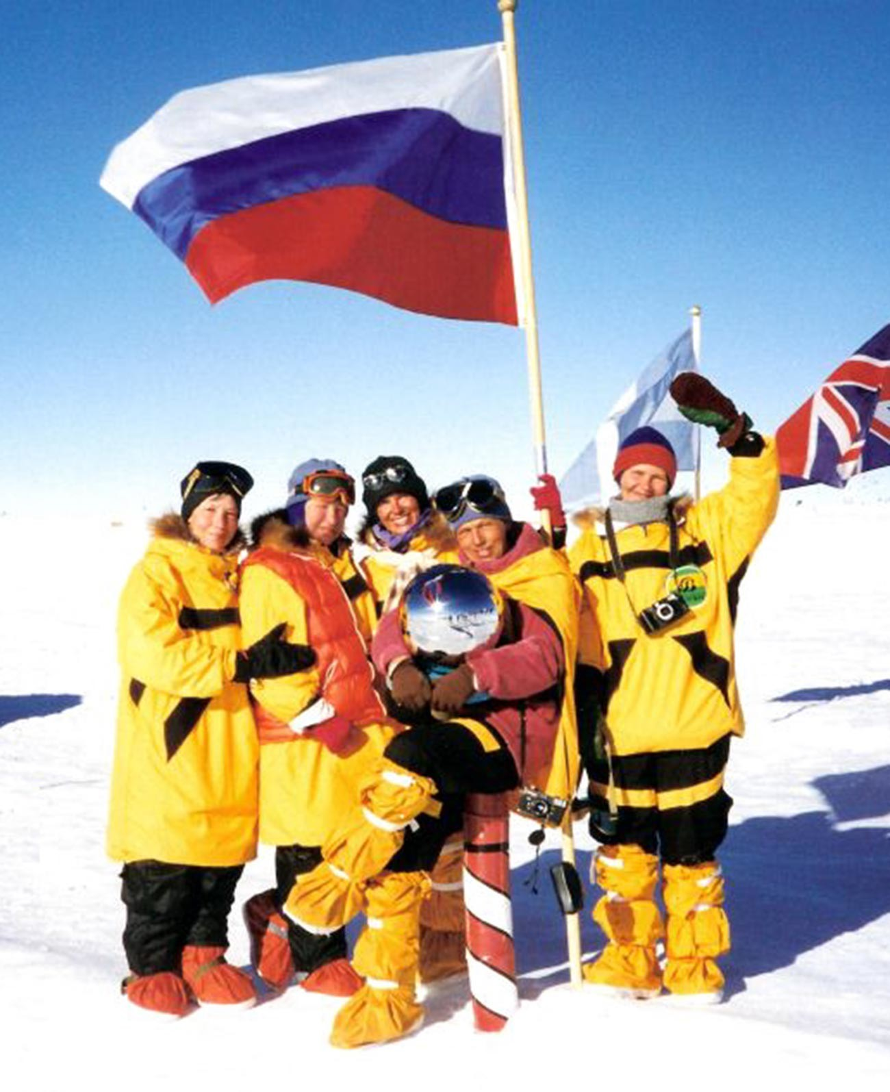 Metelitsa members at the South Pole.