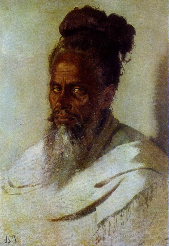 Der Kopf eines Inders, 1874-1876