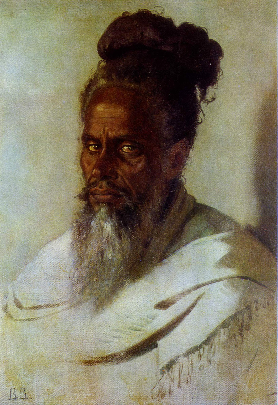 The Head of an Indian Man, 1874-1876.