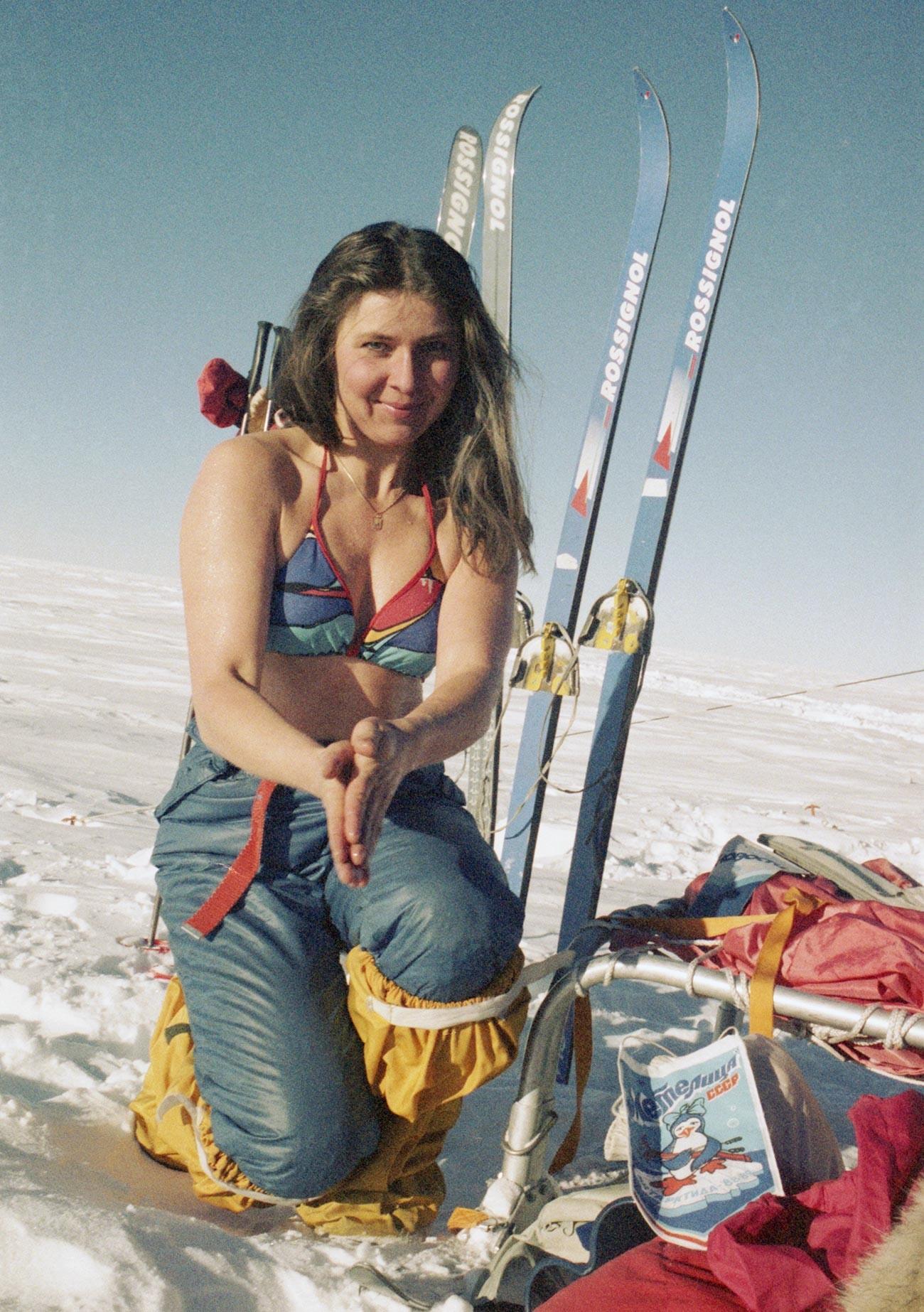 Антарктида. 14 септември 1989 година. Участник в женската научна и спортна антарктическа експедиция