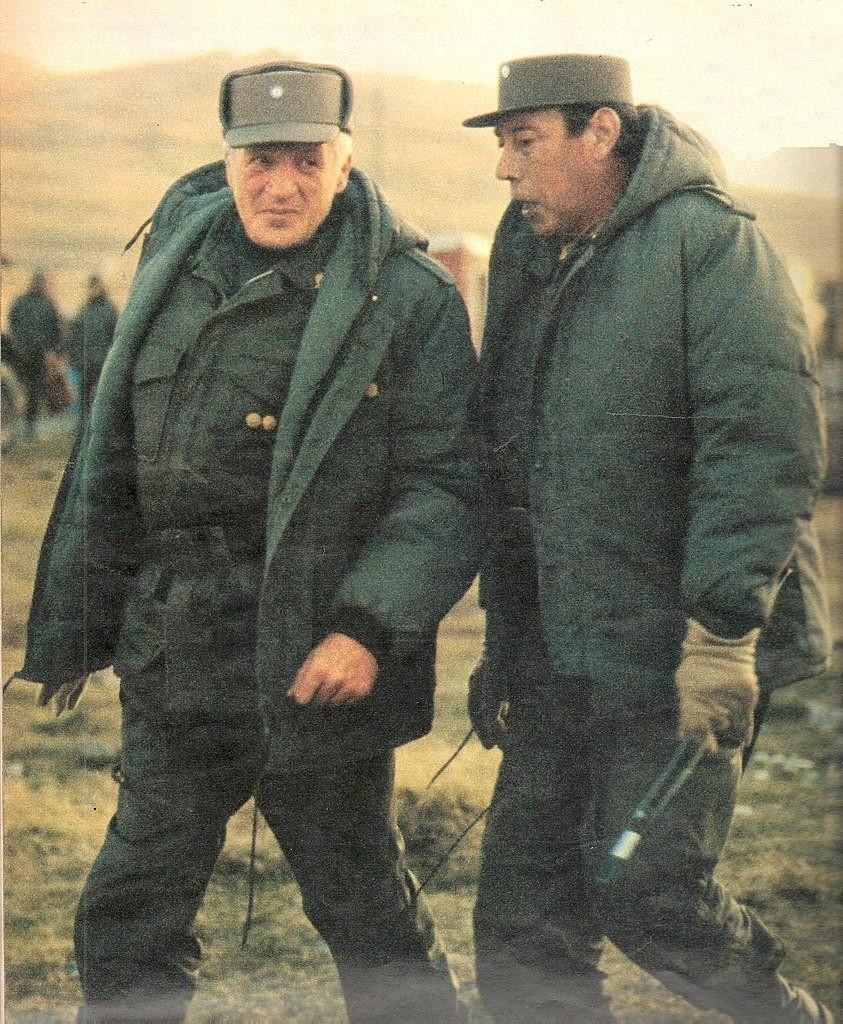 Галтијери и генерал Оскар Луис Жофре, 1982.