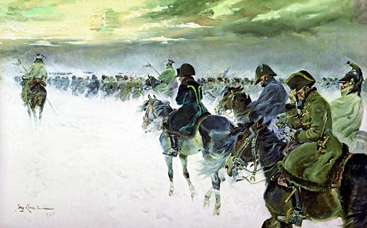 Йежи Косак. Наполеон се оттегля от Москва.