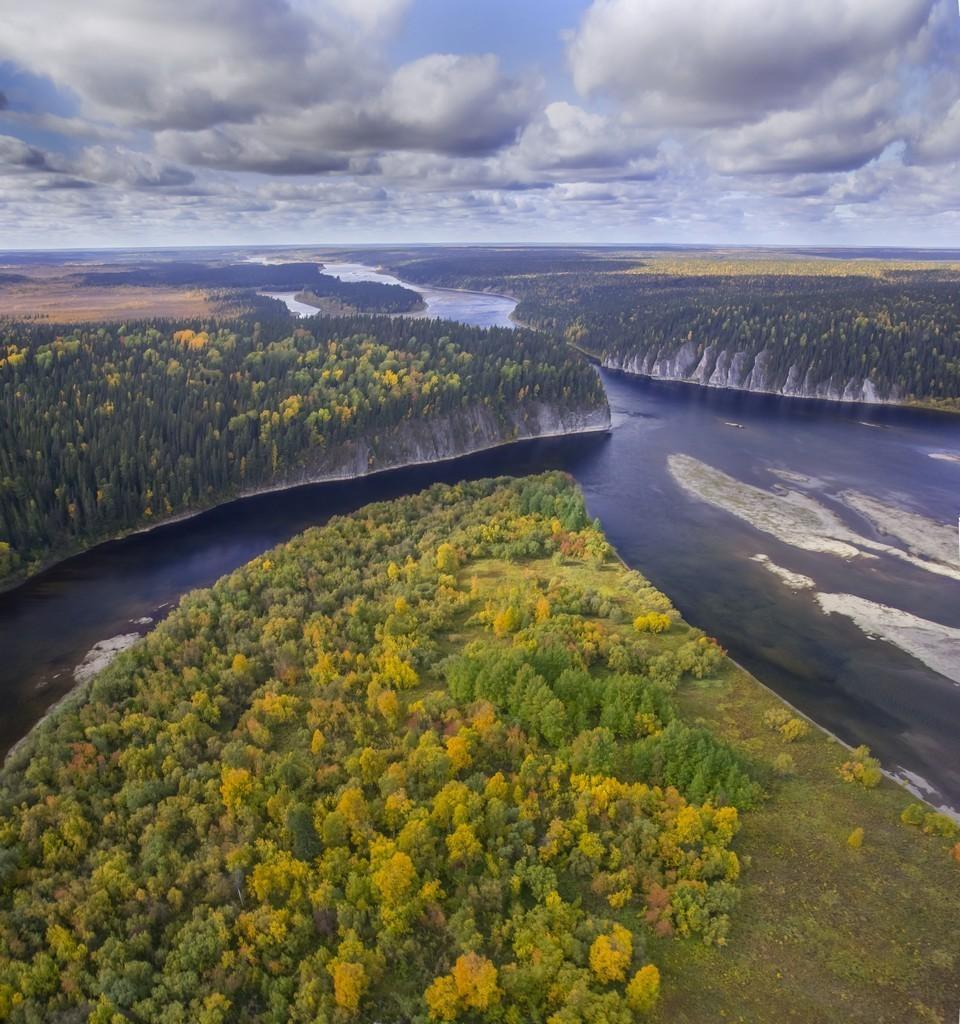 Trecho inferior do rio Schugor