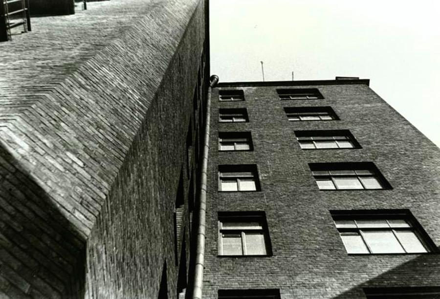 Die Ecke eines Gebäudes