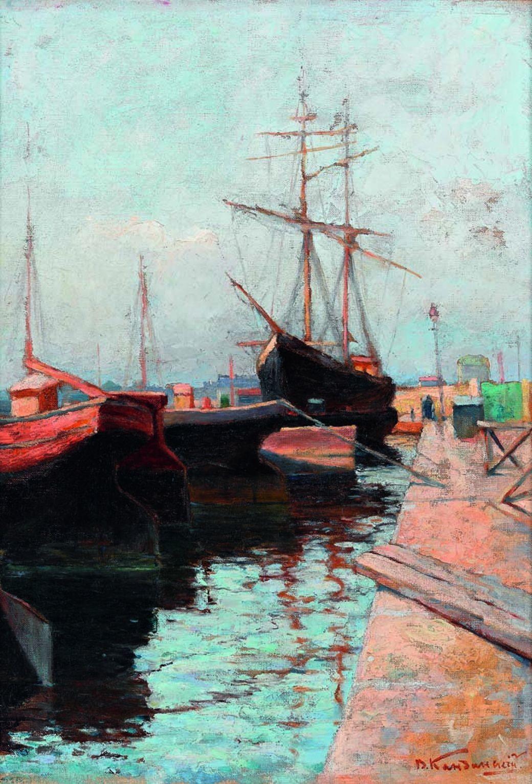 Puerto de Odessa, Vasili Kandinski (1898)