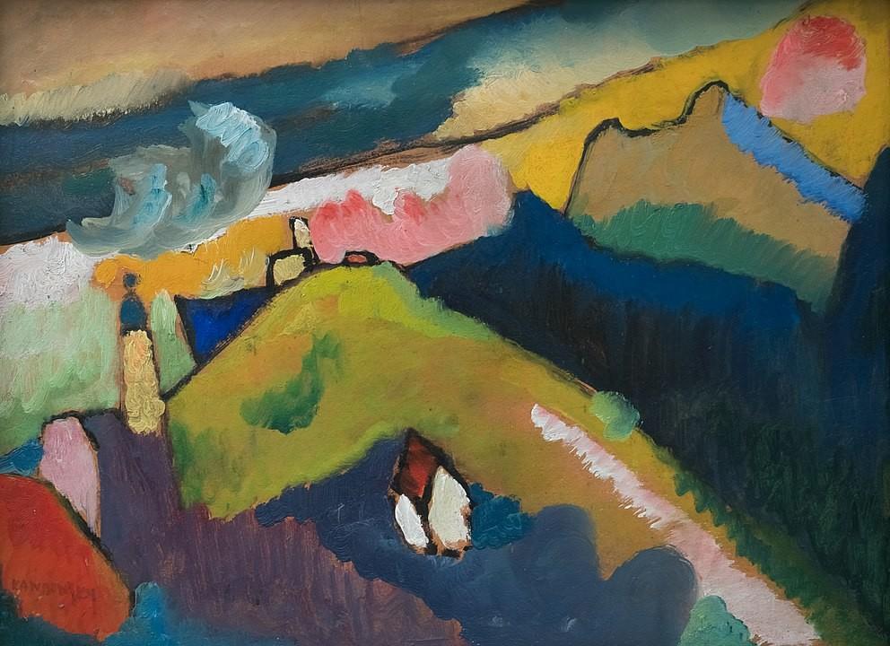 Paisaje con Iglesia, Vasili Kandinski (1910)