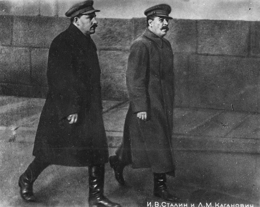 Lazar Kaganovich and Joseph Stalin