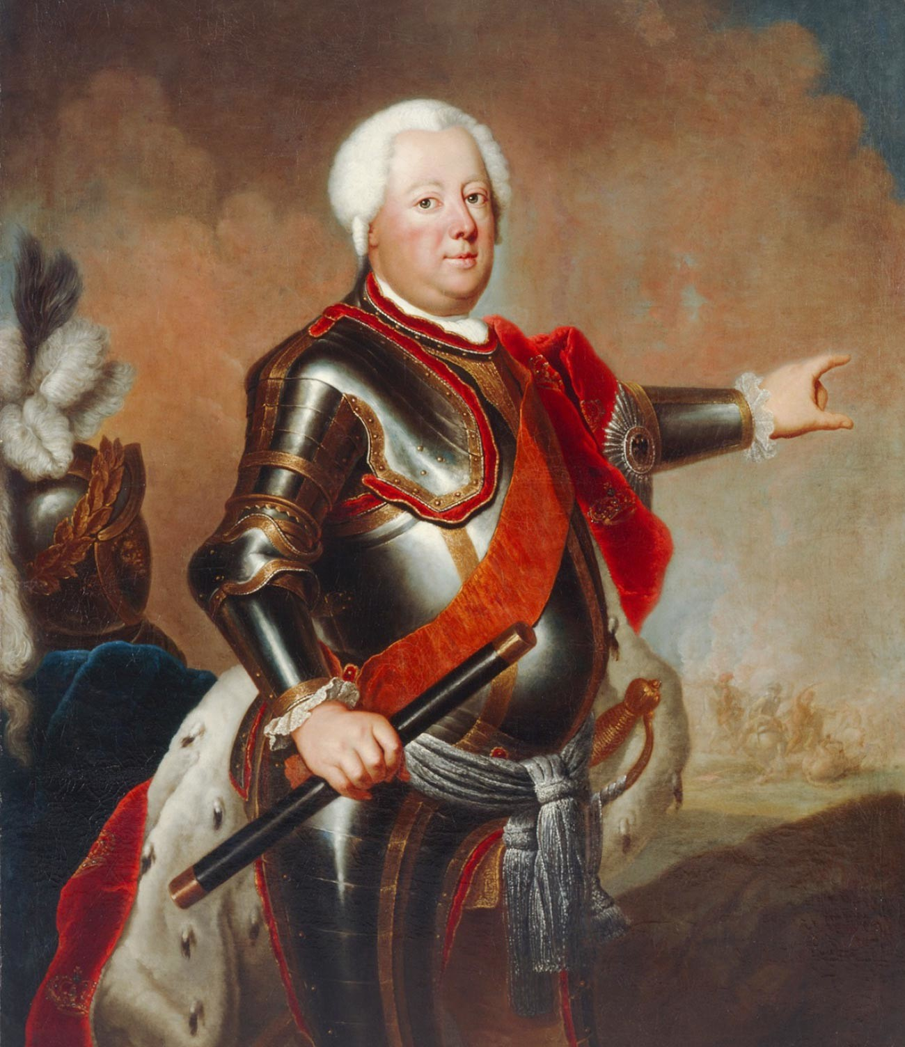 Portrait of Frederick William I of Prussia by Antoine Pesne (1683-1757)