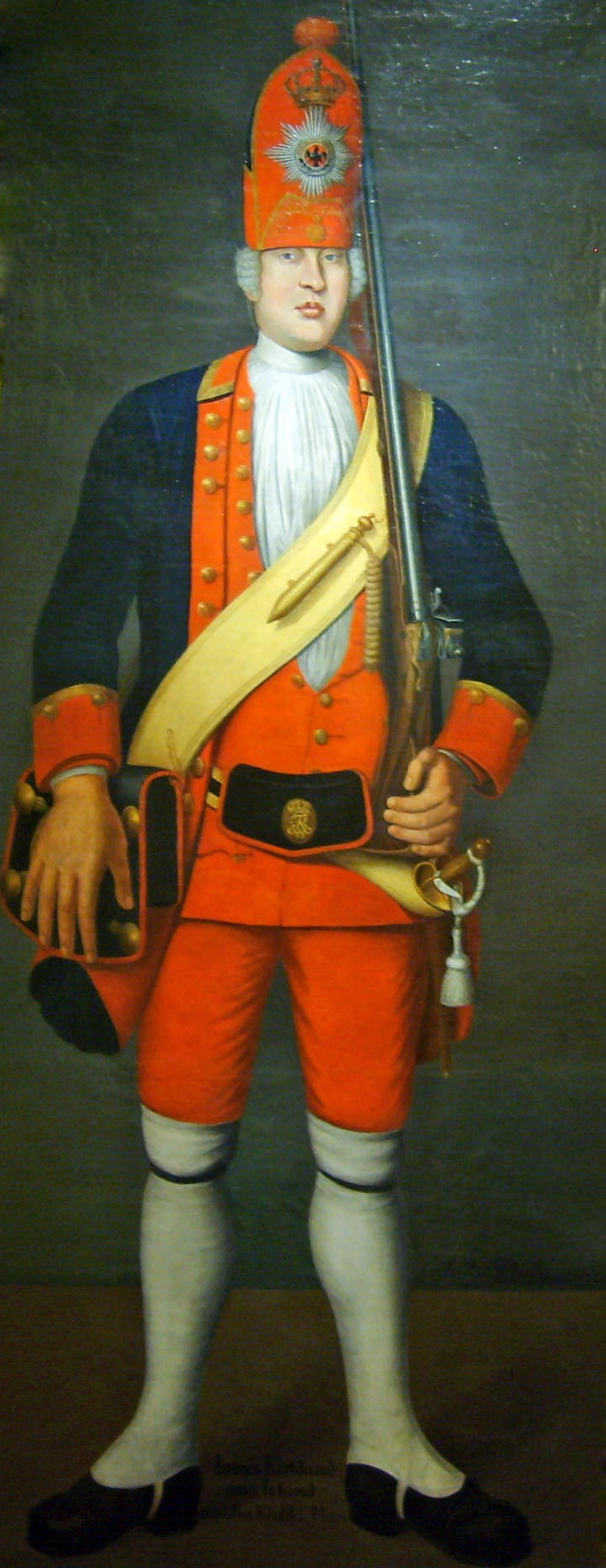 The portrait of James Kirkland from Ireland of the Potsdam Giants by Johann Christof Merck
