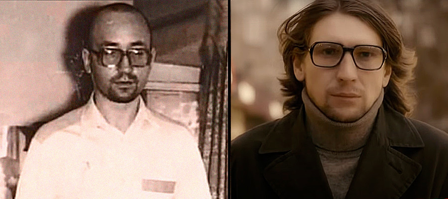 Left: maniac Vasily Kulik, right his prototype from the TV series Method