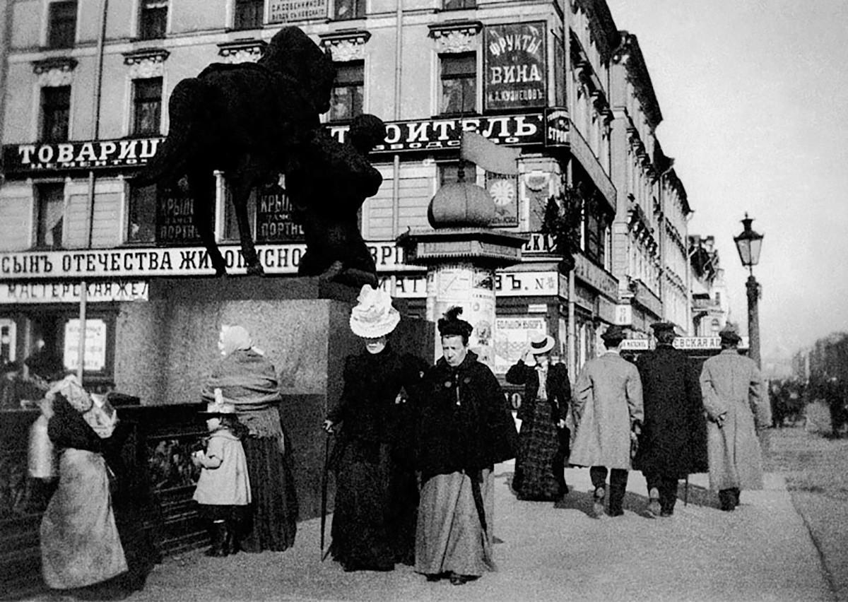 Prospettiva Nevskij, San Pietroburgo, inizio XX secolo