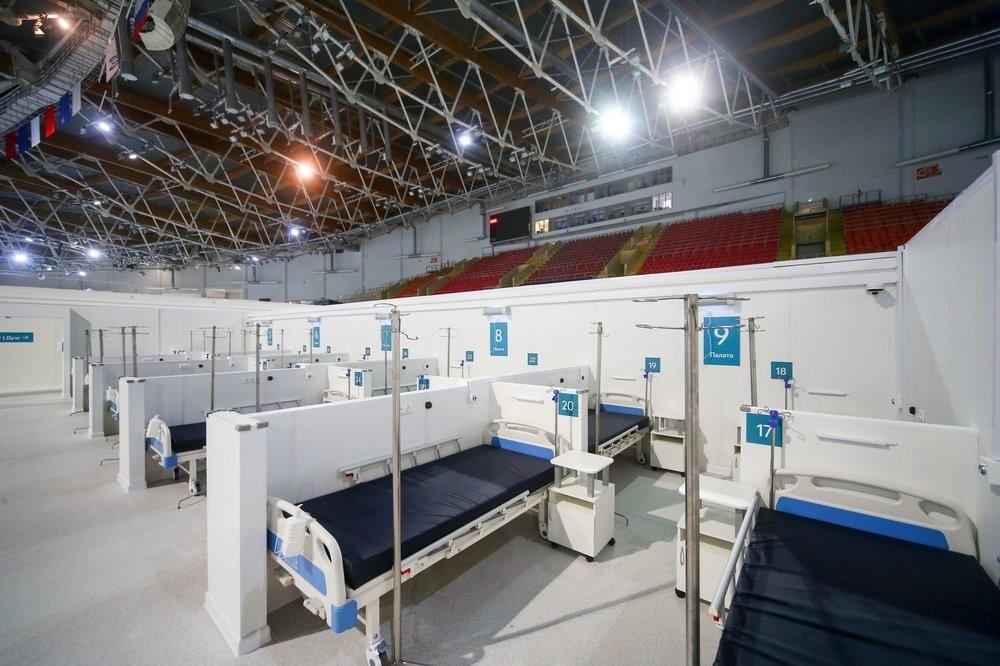 Привремена болница на територијата на салата за лизгање Крилатское