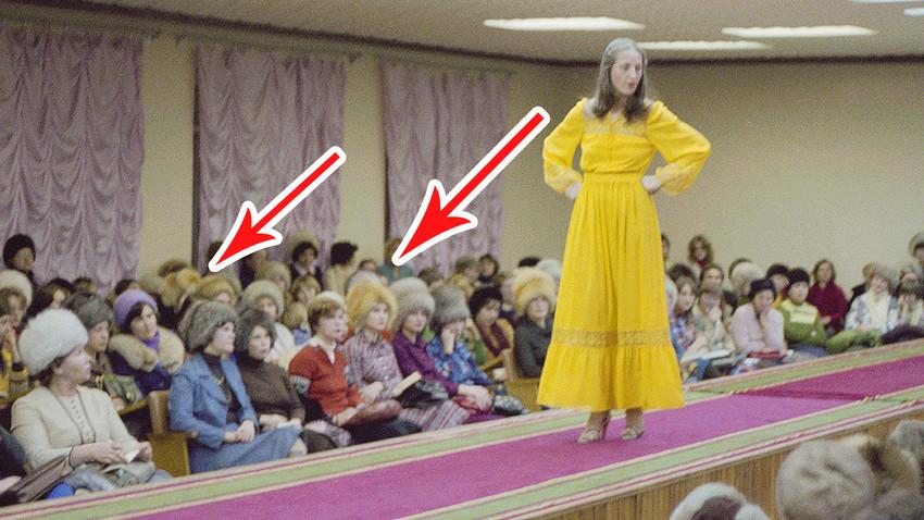 1° febbraio 1980, presentazione di una nuova collezione di moda nello showroom della Casa per Modelle di Tyumen