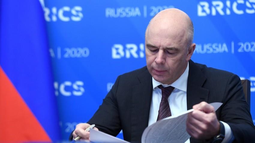 O ministro das Finanças da Rússia, Anton Siluanov.