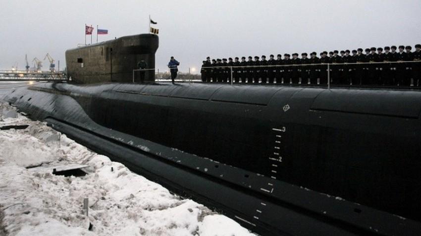 Руска нуклеарна подморница. Илустрација.