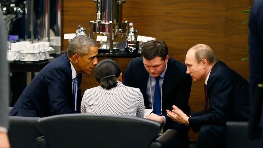 Путин и Обама на самиту Г20 у Анталији 2015.