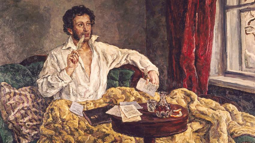 Пушкин от Пьотр Кончаловски, (1876-1956)