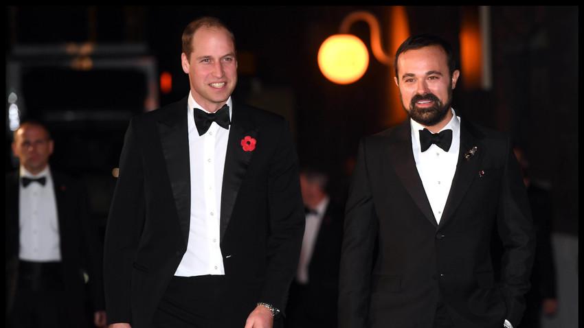 Princ William i Jevgenij Lebedev