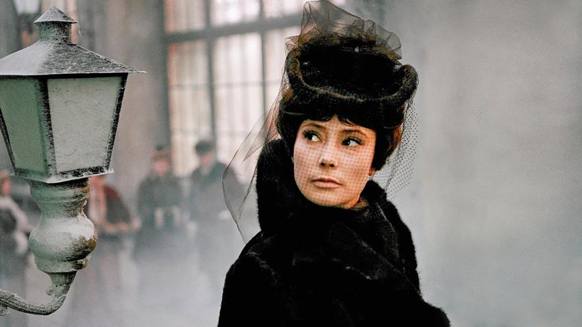 A scene from the 1967 film 'Anna Karenina', featuring Tatiana Samoilova.