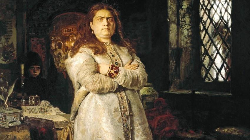"""""""Tsarevna Sofia"""", quadro de Iliá Répin, 1879."""