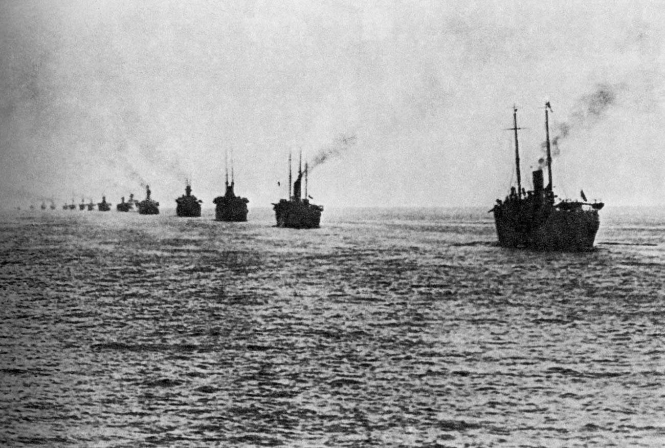 Эвакуация врангелевской армии из Крыма в 1920 году.