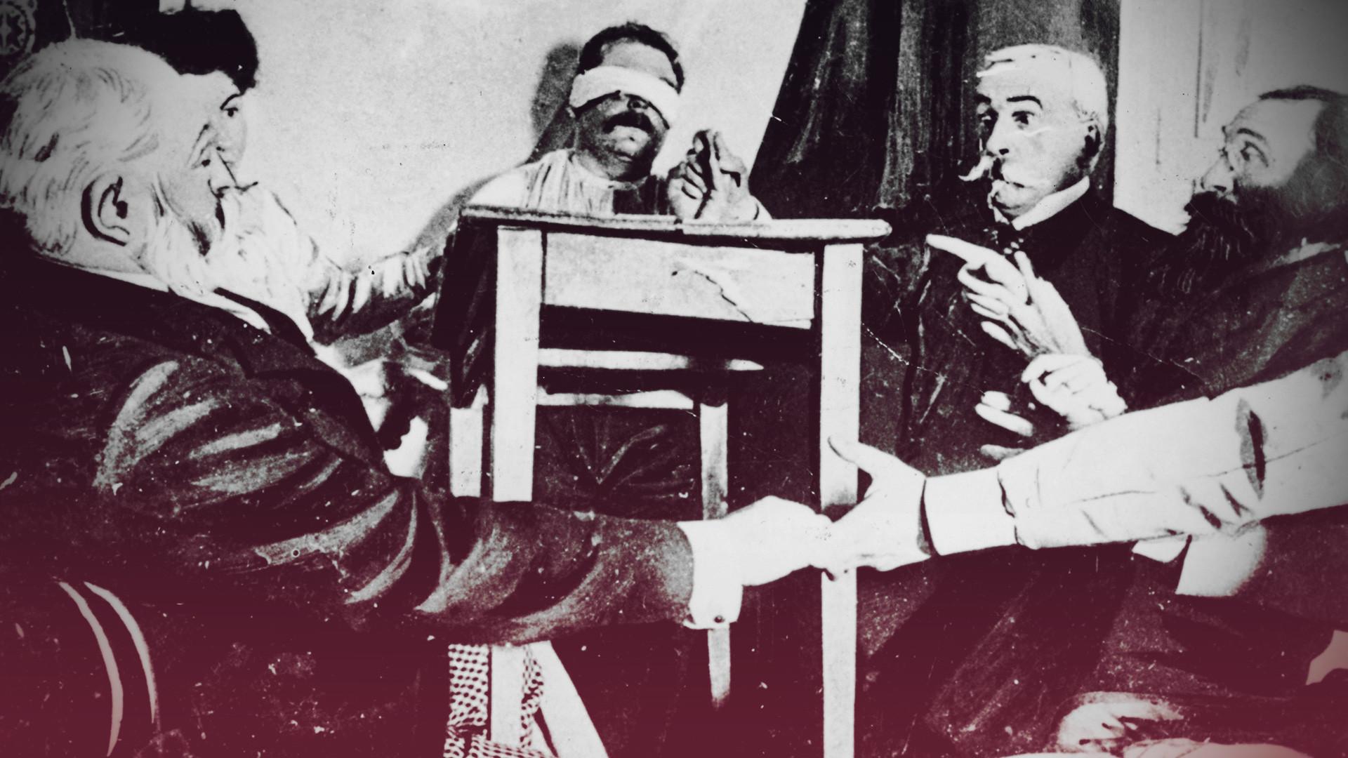 Une séance de spiritisme en France vers 1870