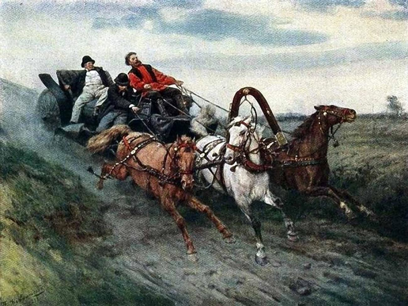 «Понесли». 1884. Художник Павел Ковалевский