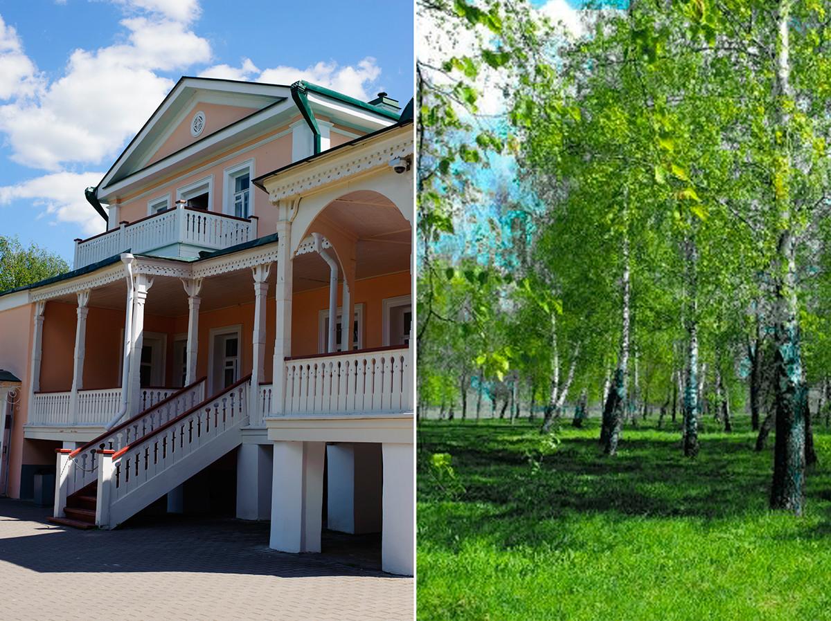 La casa di Kashina e il giardino a Konstantinovo
