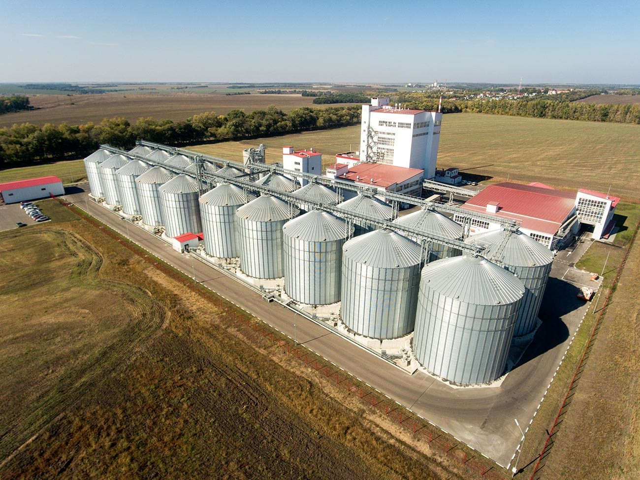 Elevator - agrofirma for the storage and processing of cereals.