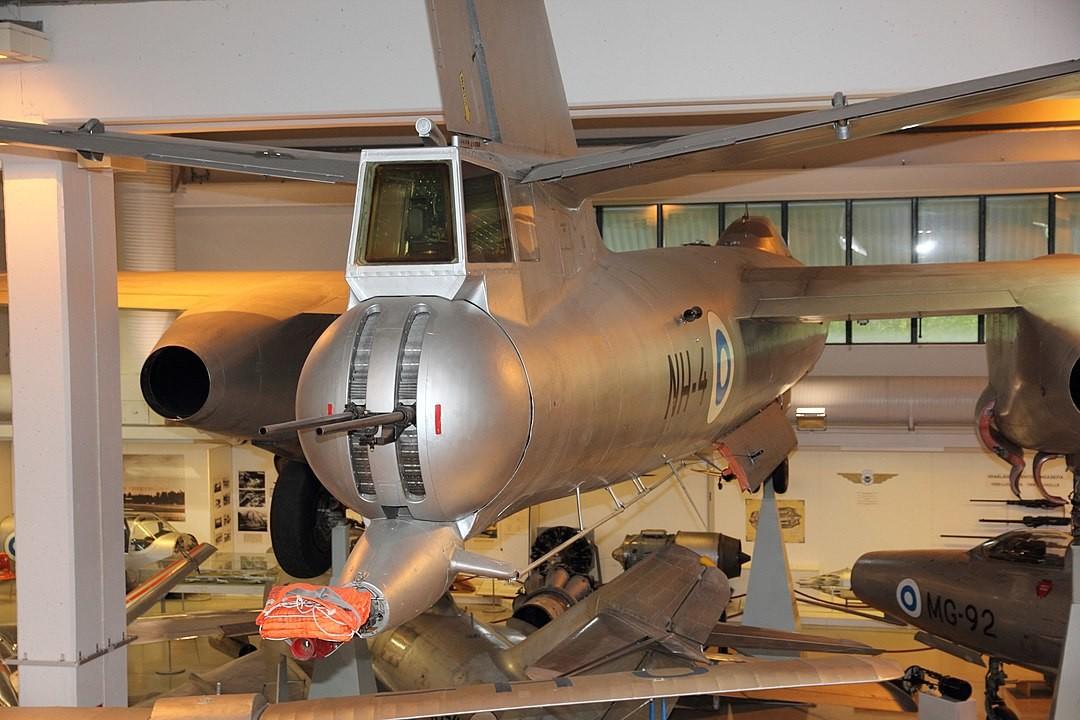 Armas traseras de un IL-28R (NH-4) en el Museo Central de la Aviación de Finlandia 2012.