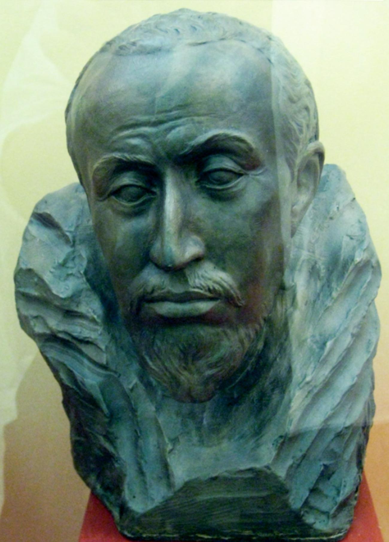 Реконструкция на лицето на цар Фьодор Иванович. Изработено от М. Герасимов, 1963