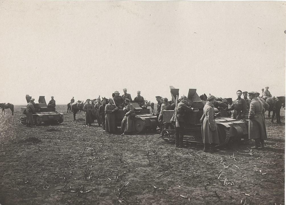 Tanquetas T-27 durante unas maniobras. 1932.