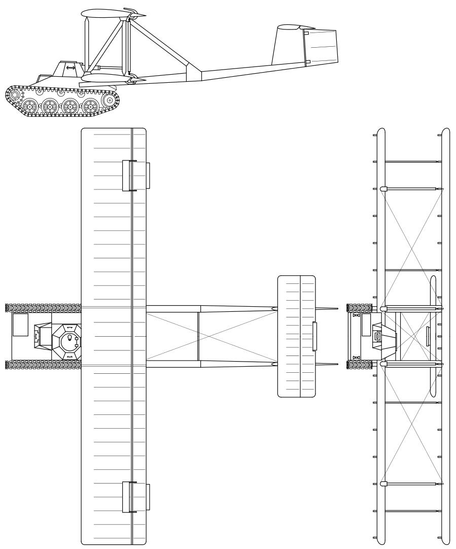 Diagrama del proyecto del T-60 volador.