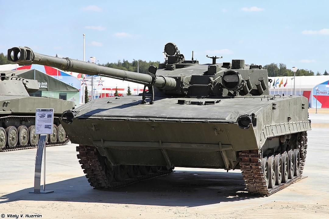 Tanque modelo Objeto 685 expuesto en el Parque Patriot.