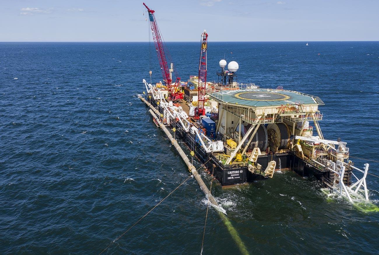 Строителството на морската част на газопровода